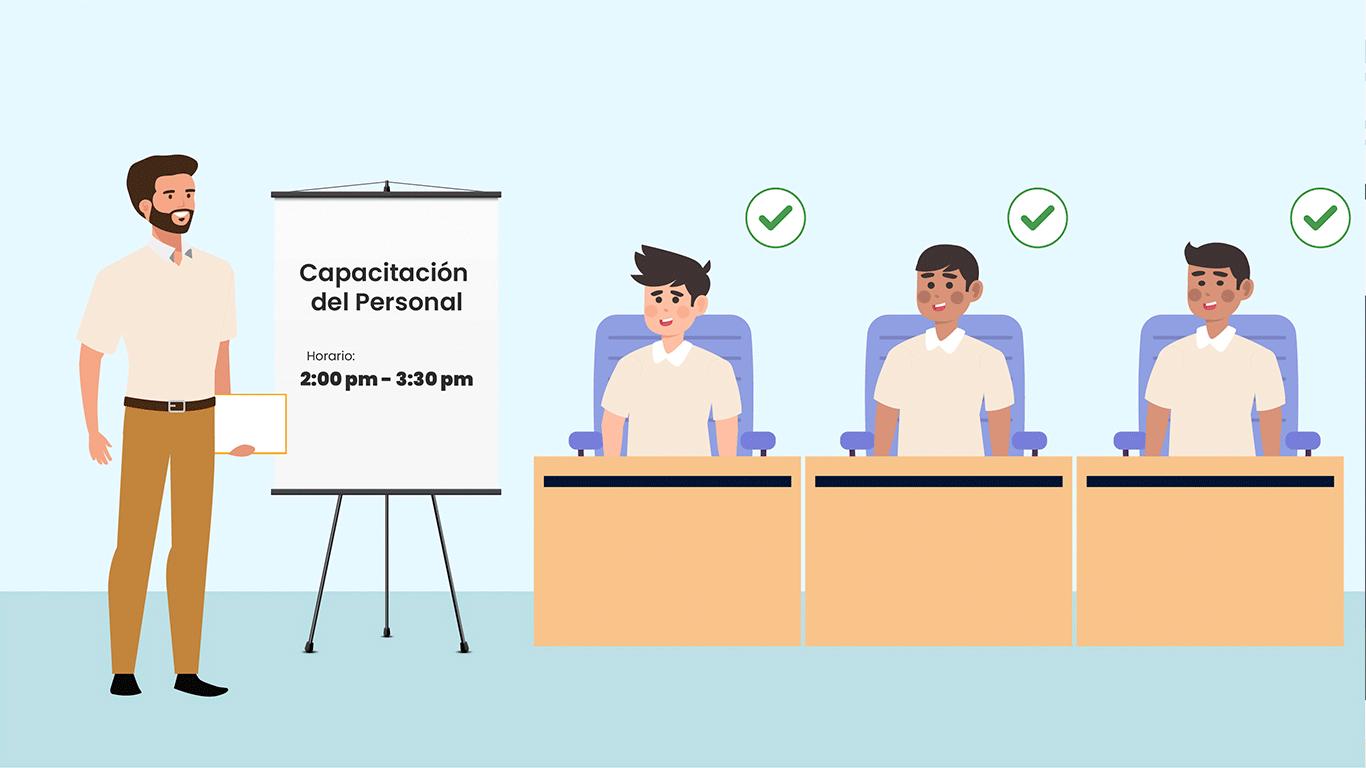 La empresa programó capacitaciones con mayor duración adaptando la metodología y dosificando los contenidos, para que Rafael pueda comprender mejor las tareas que se encuentran bajo su responsabilidad.