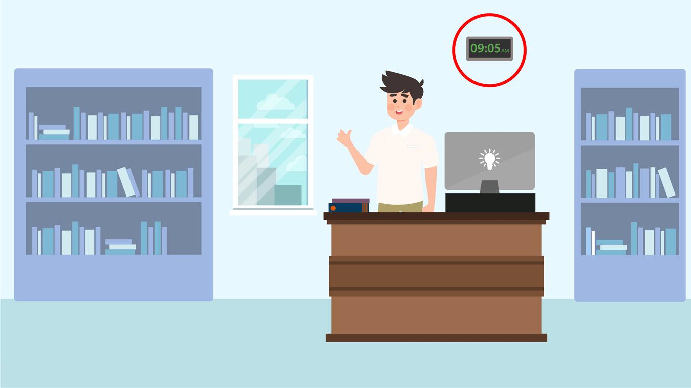 La librería modificó el horario de trabajo de Ricardo para que pueda asistir todas las mañanas y en un horario fijo. También consideró que por las mañanas normalmente hay menos circulación de personas en la librería. Esta adaptación logró disminuir su nivel de estrés.