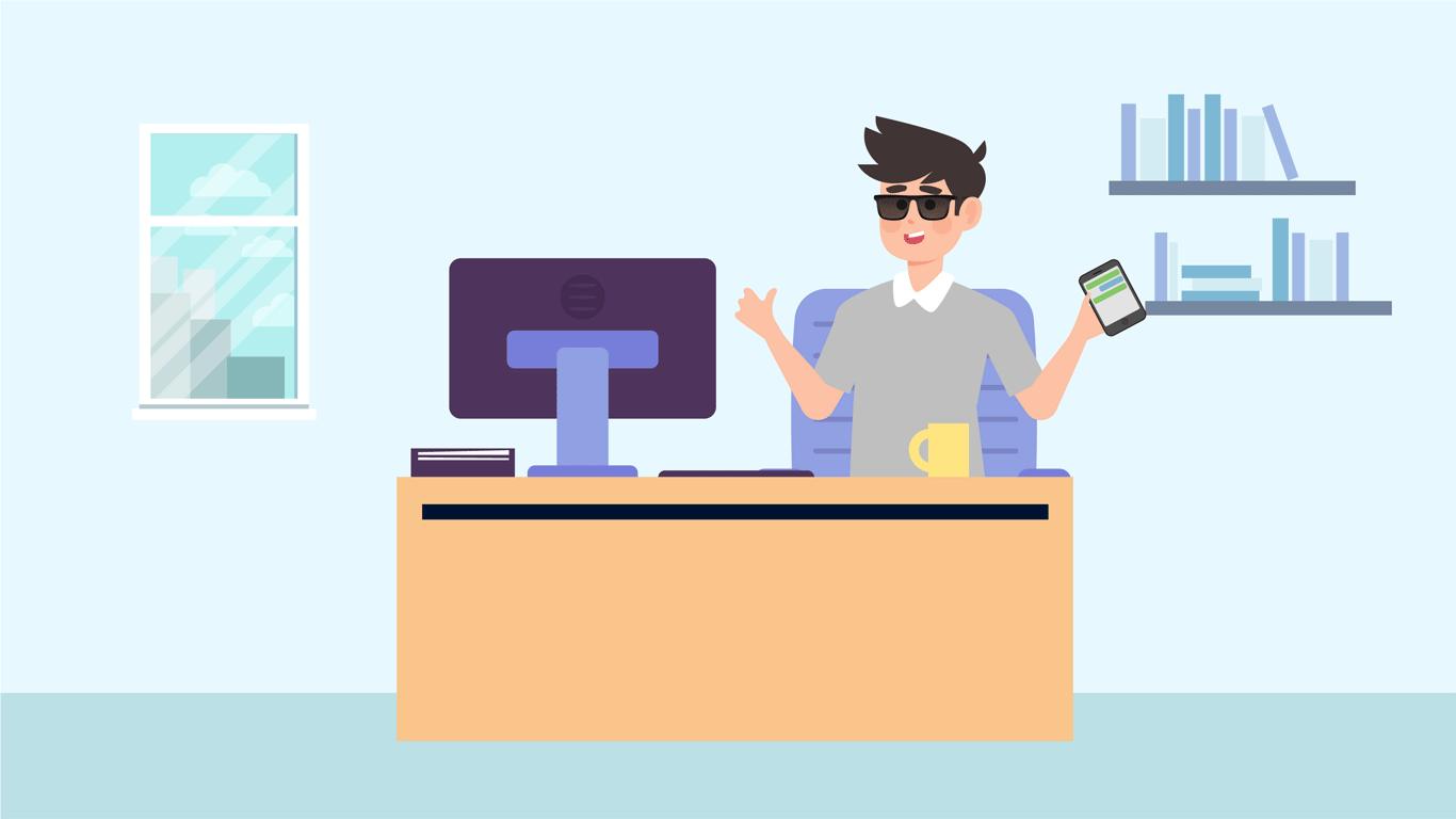 La biblioteca adecua el puesto de Cristian a modalidad de trabajo remoto asignándole las siguientes tareas:  orientación telefónica a usuarios en general de la biblioteca, soporte a través de WhatsApp web  y atención en la sala virtual para personas con discapacidad visual.
