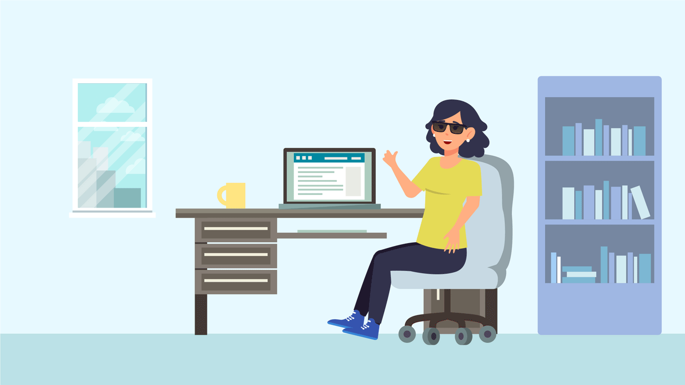 La empresa modifica la modalidad y horario de trabajo de Noemí, pasa a realizar trabajo remoto en su domicilio, facilitándole que pueda desarrollar sus productos usando sus propios softwares y su equipo de cómputo.