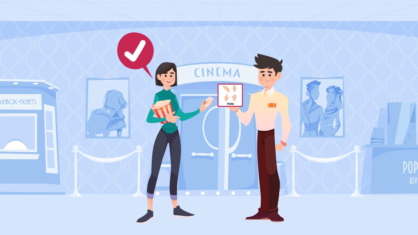 La empresa establece el uso de pictogramas (gráficos, dibujos, iconos, frases) para mejorar la comunicación entre Pablo, sus compañeros de trabajo y el público que atiende.